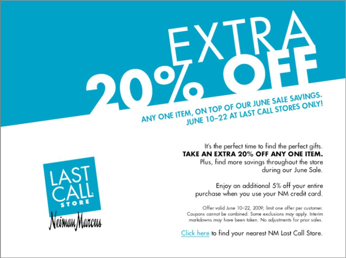 Last call coupon code