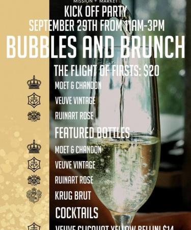 Bubbles + Brunch launch at Mission + Market