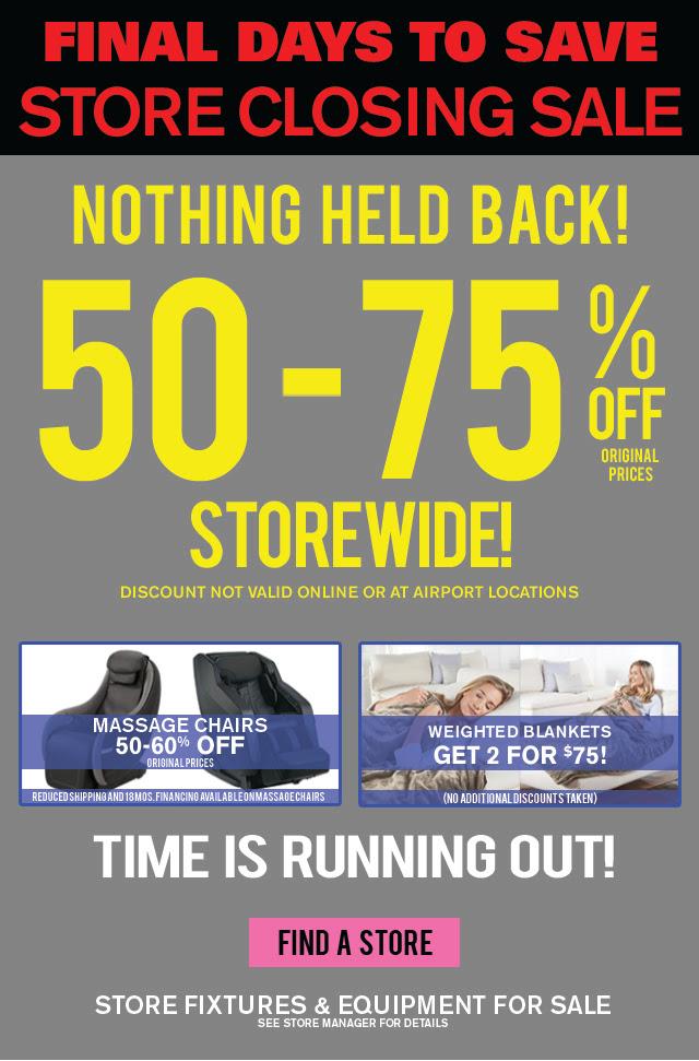 Final Days – Brookstone Stores Closing!