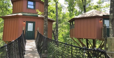 Treetop adventures at Historic Banning Mills