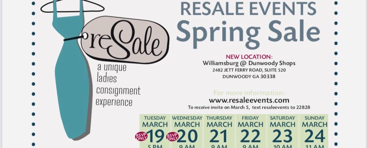 2019 Designer ReSALE spring pop up event