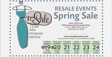 2019 Designer ReSALE spring pop up event