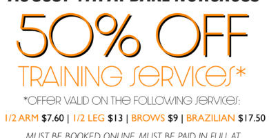 Waxing Deal: 50% off