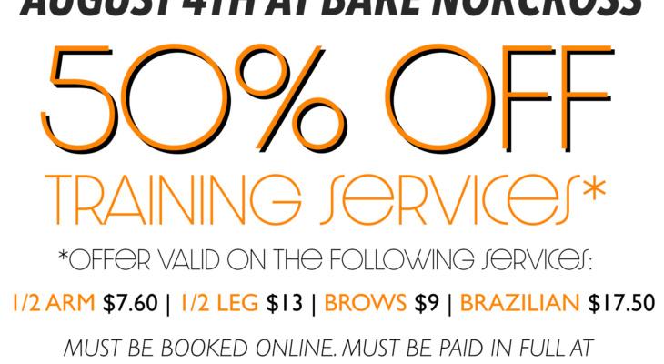 Waxing Deal: 50% off